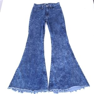 Judy Blue High Rise Acid Wash Flare Jeans 11/30